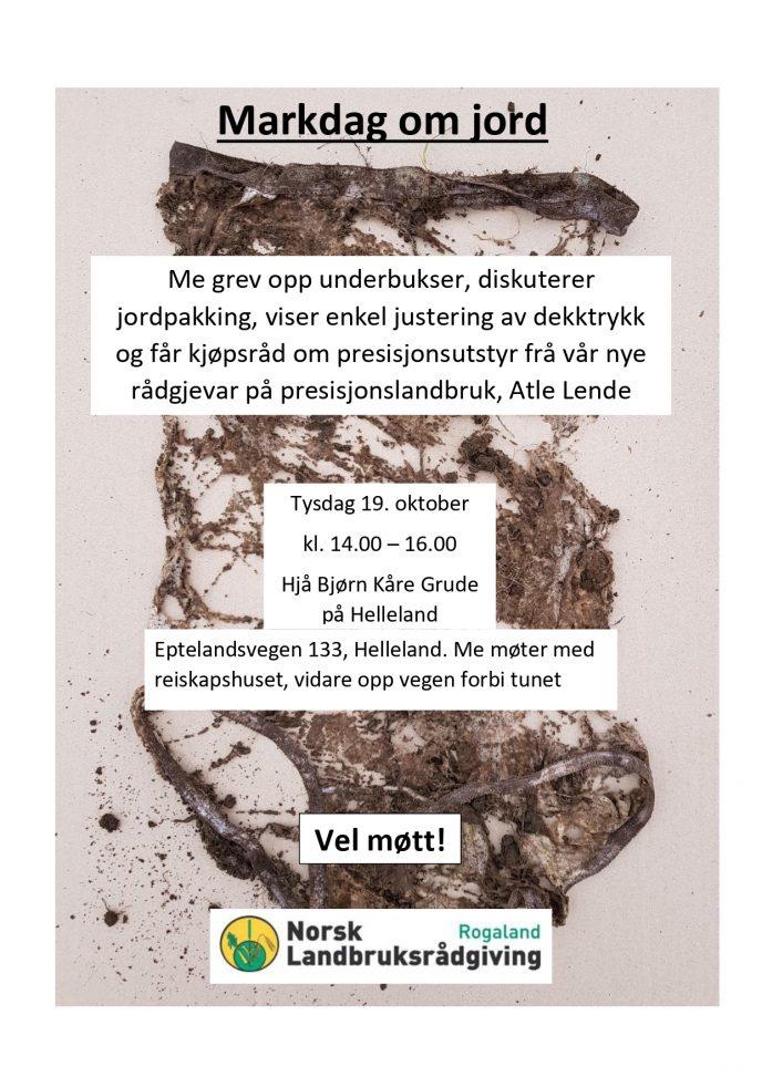 Markdag om jord Helleland